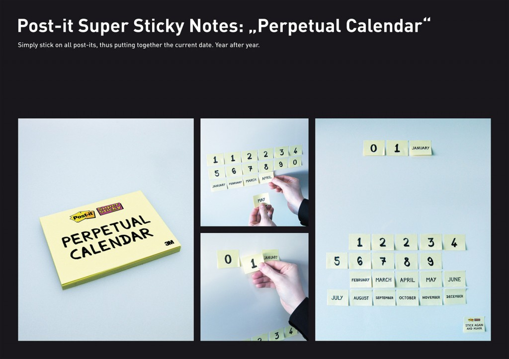 3M Post-it Calendar