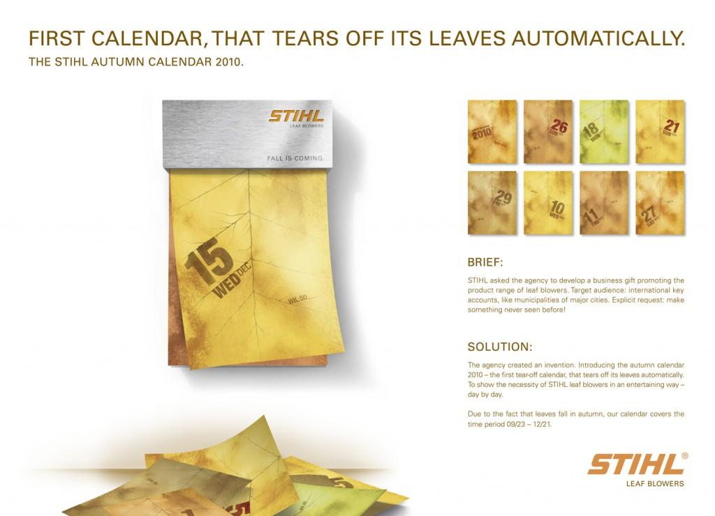 STIHL Autumn Calendar