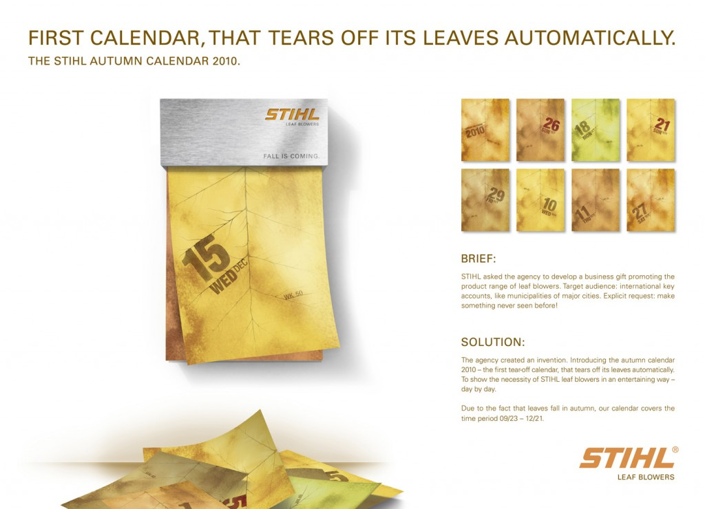 STIHL Autumn Calendar