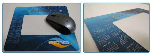Custom Calendar Printed on a Mousepad