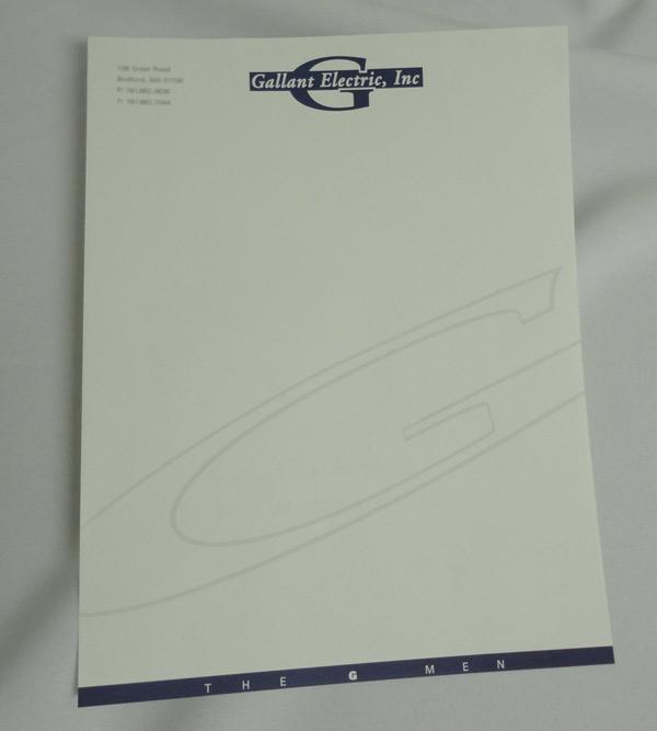 Letterhead Design with Watermark