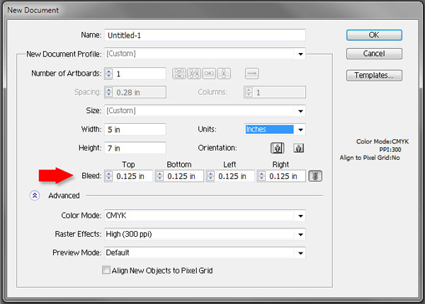 Add bleeds to an Adobe Illustrator Document
