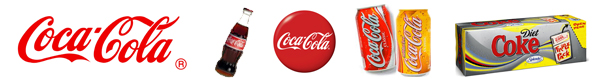 Coca Cola Brand Identity Variations