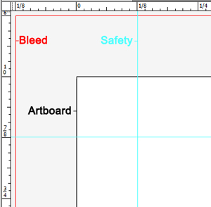 Template Artboard Bleed Safety Lines
