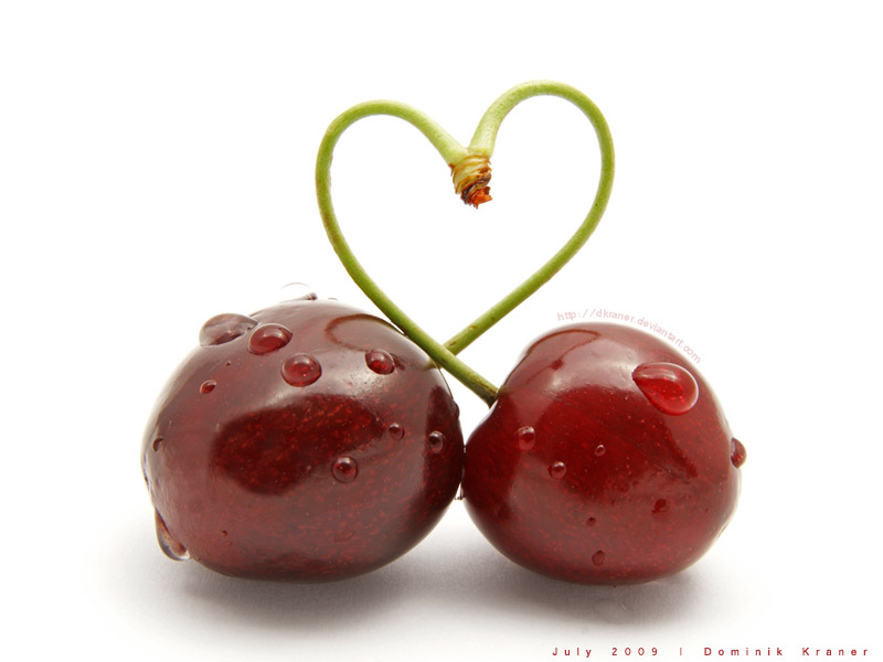 cherry stick heart-shape by dkraner