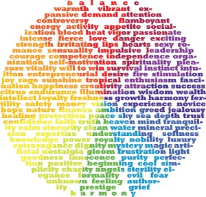 Color Wheel Typography - Meaning of Colors