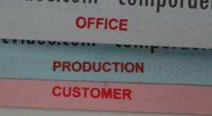 NCR Forms Marginal Words