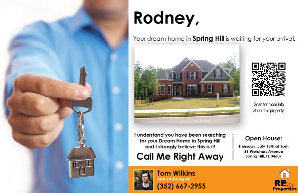 Real Estate Variable Data Printing VDP Postcard