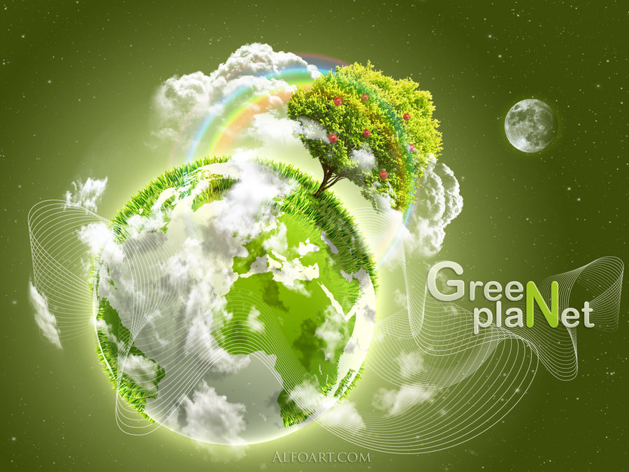 Earth Day Green Planet by AlexandraF
