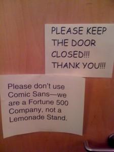 Comic Sans Office Note