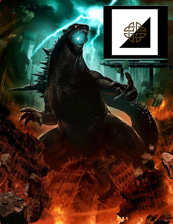 Godzilla Augmented Reality Poster