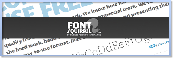 Font Squirrel Free Commercial-use fonts website