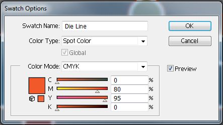 Adobe Illustrator Swatch Options Panel