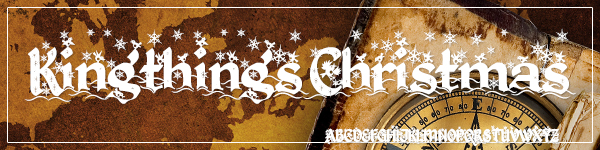 Kingsthings Christmas Free for Commercial Use Font