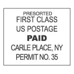 First Class Mail Permit Indicia