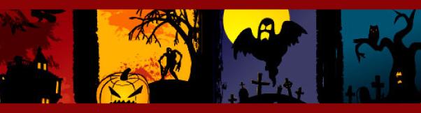 Vector Grunge Halloween Banners