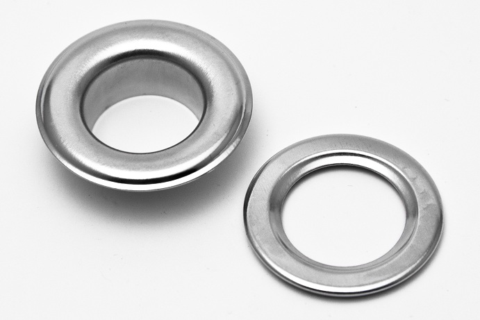Silver grommets used for hanging posters, signs and banners | mmprint.com