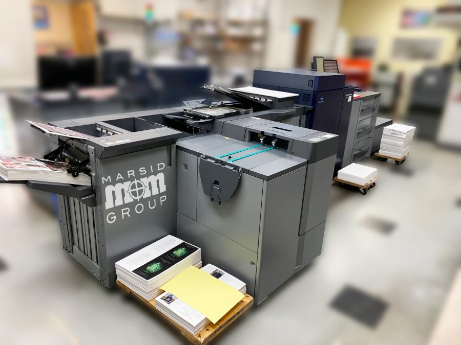 A picture of our new short run digital press Konica Minolta Accurio Press C6100